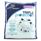 300 TC Soft Cotton Cover Mattress Pad-Fits Mattresses up to 18inch Deep