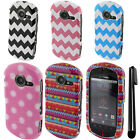 For Casio GzOne Commando C771 PATTERN HARD Case Phone Cover Accessory + Pen