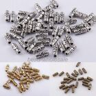 50pcs NEW Retro Tibetan Silver Column Tube Spacer Beads for DIY Jewelry Making