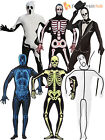 Adult Mens Second Skin Halloween Costume Skeleton XRay Glow In Dark Fancy Dress