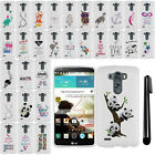 For LG G3 D850 D851 LS990 VS985 Art Design PATTERN HARD Case Phone Cover + Pen