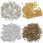 Silver,Gold,Dark Silver,Copper PLATED Metal Round SPACER BEADS