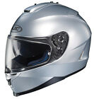 HJC HELMET IS-17 SILVER MOTORCYCLE RIDING STREET WITH INNER SUNSHIELD DOT