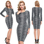 Vintage Womens Rockabilly Cocktail Evening Party Bodycon Mini Clubwear Dress NEW