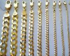 "2MM- 11MM 14K SOLID YELLOW GOLD CUBAN LINK WOMEN/ MEN'S NECKLACE CHAIN 16""-30"""
