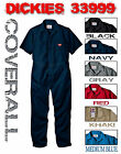 NEW DICKIES 33999BK S/S COVERALLS SHORT SLEEVE MENS BLACK NAVY GREY RED KHAKI