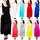 New Womens Ladies Summer Toga Balloon Elastic Waist Maxi Dress Size S M L XL  8