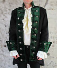 Black Vampire Pirate Gothic Jacket Coat Quality Theatrical Costume Medieval King