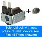 TRITON SHOWER SOLENOID COIL LOW PRESSURE LIGHT ON? NO WATER? EASY DIY 83300450