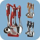 7 PC COOKING UTENSILS KITCHEN TOOL SET W STAND STAINLESS STEEL PH-1237