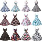 UK CHEAPEST~50s 60s Vintage Floral Floral Swing Pinup Rockabilly Prom Dress NEW