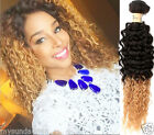 "10""-30"" Two tone 1B/27# Ombre Hair Extensions Brazilian Ombre Curly Human Hair"