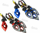 2 Pairs 12 LED Motorcycle/Bike Turn Signal Indicators Red/Blue For Yamaha BMW