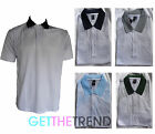 Mens Leaf Print Top Polo Tshirt White Polo Tee Shirt Mens Top  M L XL 2XL