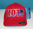 MOTOCROSS HAT MOTO JUST RIDE FLEXFIT CURVED BILL CAP DIRT BIKE MX MOTORCYCLE