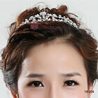 Hot Sale Girls' Hair Accessories Alloy Metal Wedding Crown Bridal Tiaras No Comb