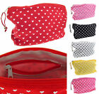 BB ACCESSORIES Rectangle MAKE-UP COSMETICS BAG Pencil Case LOVE HEART PRINT