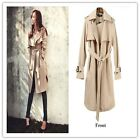 Autumn Spring Fashion/Casual Women's Trench Coat Long Outerwear Loose Clothes-LA
