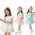 Girls Lace Dress Blue - White - Pink Age 2 - 3 - 4 - 5 - 6 -- BNWT
