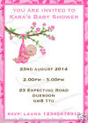 10 PERSONALISED BABY SHOWER INVITATIONS AND ENVELOPES