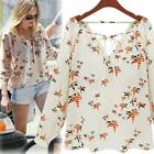 Korean Wind Flying Pigeon Pattern Batwing Loose Chiffon Tether Top Blouse Tees