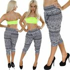 New Ladies Womens 3/4 Cropped Aztec Print Ali Baba Harem Trousers Pants Size 8