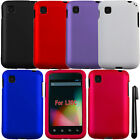 For LG Optimus Dynamic 2 L39C Rubberized COLOR HARD Shell Case Cover Phone + Pen