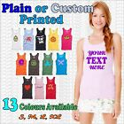Ladies custom printed baby rib tank top BELLA & CANVAS 100% cotton with your TXT