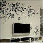 Newly Butterfly and Flower DIY  Vinyl Decal Art Mural Home Decor Wall Stickers