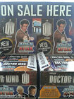 DR WHO ALIEN ATTAX 50TH ANNIVERSARY COMPANION AND TARDIS SINGLE CARDS