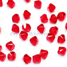4mm Light Siam (227) Genuine Swarovski crystal 5328 / 5301 Loose Bicone Beads