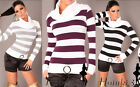 Womens Cardigan-Long Sleeve Turtleneck Striped Tunic Cardigan Long Sleeve Jumper