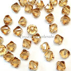 3mm Light Colorado Topaz Genuine Swarovski crystal 5328 / 5301 Bicone Beads