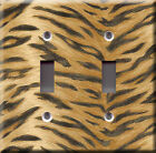 Light Switch Plate Cover - Animal print model 2 - Skin pelt jungle beast wild