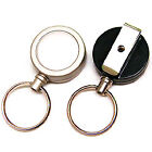 RETRACTABLE KEY RING REEL CHAIN YOYO inc BELT CLIP & HEAVY DUTY STEEL CORD