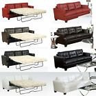 White Black Red Brown Diamond Bonded Leather Sofa w/ or w/o Queen Sleeper Bed