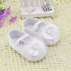 Classic Baby girl white Crib Shoes soft soled Shoes Size 0-6 6-12 12-18 months