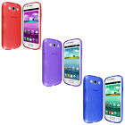 For Samsung Galaxy S3 S 3 III I9300 TPU Candy Skin Silicone Case Cover + Screen
