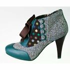 Poetic Licence Womens Betseys Buttons Green Multi High Heel Shoe Boot