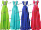 New Chiffon Formal Bridesmaid Dress Evening Party Prom Stock Size6-8-10-12-14-16