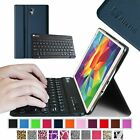 "Slim Bluetooth Keyboard Leather Cover Case for Samsung Galaxy Tab S 8.4"" SM-T700"