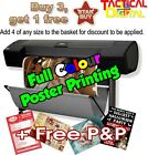 A4 Full Colour Poster Printing High Quality Print - Gloss or Satin 200gsm paper