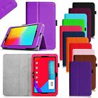 """Folio Smart PU Leather Cover Case for LG G Pad 10.1 V700 10.1"""" Tablet Wake/Sleep"""