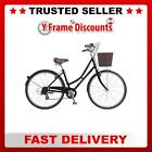 Dawes Duchess Classic Black Ladies 7 Speed Hybrid Heritage Bike with Basket