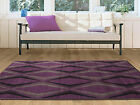 Cheap Modern Soft Touch Large Purple Grey Geometric Easy Clean Fireplace Rugs
