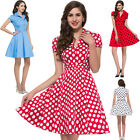 Hepburn Style 1950's Rockabilly Swing Evening Pinup Prom Retro Pure Cotton Dress