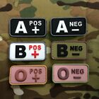 Gun Point Gear Velcro Morale Patch A+ A- B+ B- O+ O-Blood Type/Group PVC Patch