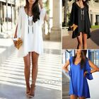 Summer Women Sexy Chiffon Casual Party Evening Cocktail Short Mini Dress Tops