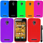 For Alcatel One Touch Fierce 7024W SILICONE Gel Protector Case Phone Cover + Pen