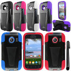 For Samsung Galaxy Ace Style S765C KICKSTAND HYBRID Rubber HARD Case Cover + Pen